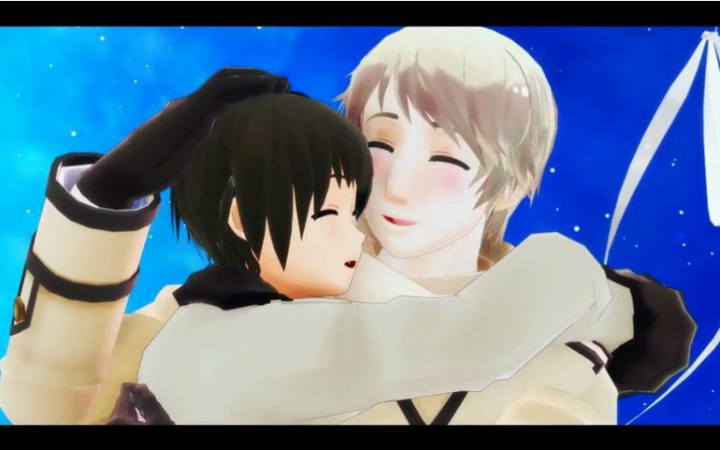 3d mmd shake it off with 2 short hair girls 8