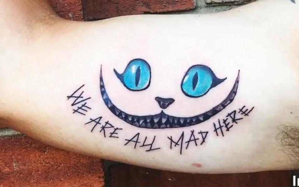 """爱丽丝梦游仙境中最""""mad""""的纹身图案!"""