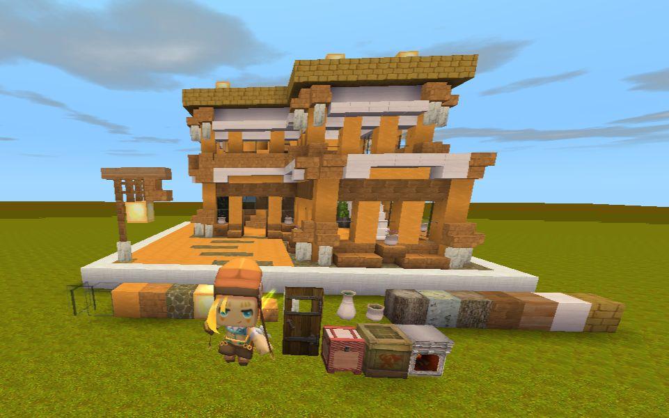 沙豆的迷你教学生存实用出售沙漠20x20别墅风小世界广州南沙别墅建筑图片
