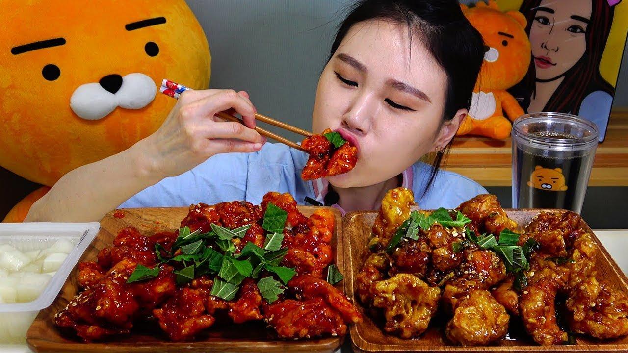 【卡妹】两只苏子叶炸鸡调料杂烩吃播Mukbang(2019年8月18日20时31分)
