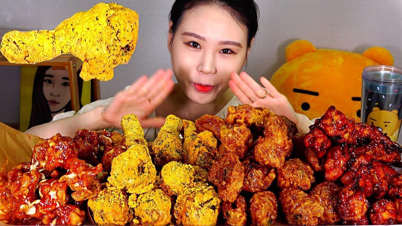 【卡妹】炸鸡4 Set真的吗suprim调料爆料鸡腿蜂巢鸡翅鸡翅鸡翅吃炸鸡Mukbang(2019年9月17日21时15分)
