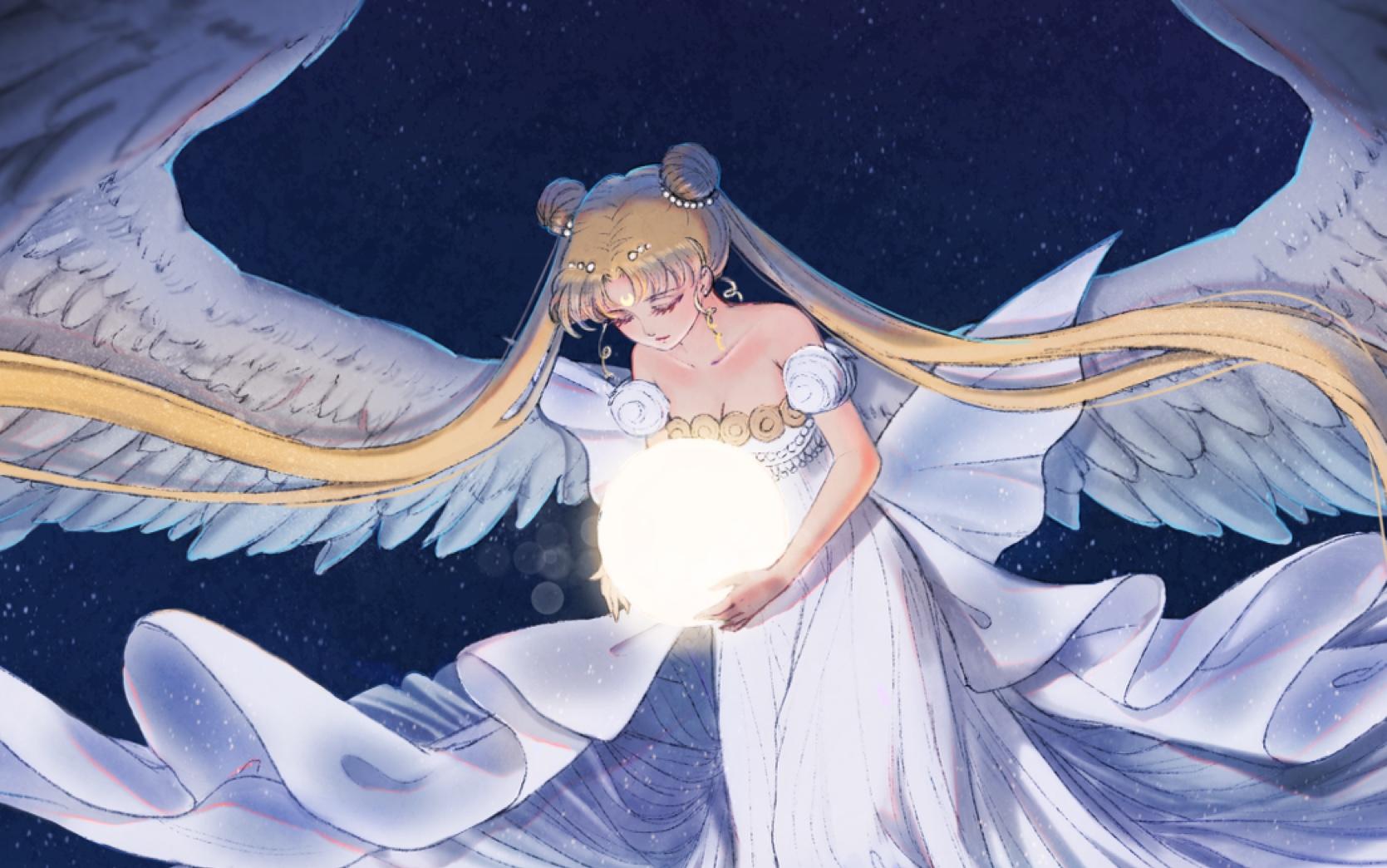 轮奸美少女战士_【ipad pro绘画】美少女战士月亮公主同人图【atatos】