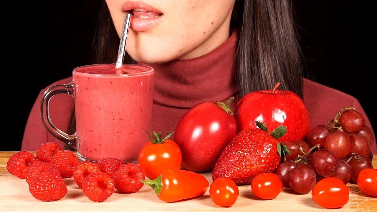 【hungry herbivore】红色食物浆果、樱桃冰沙、葡萄、西红柿(大多不说话)(2019年8月25日8时16分)
