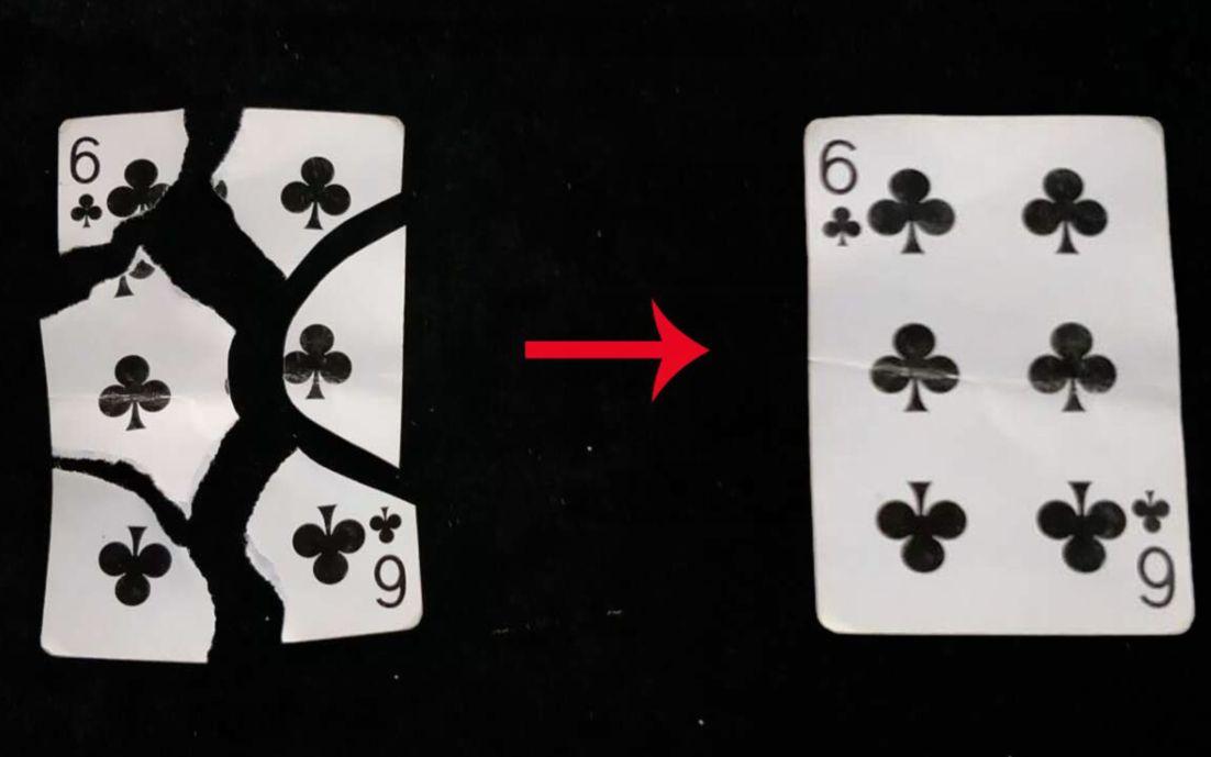 刘谦扑克牌魔术揭秘_破损的扑克牌瞬间还原,简单易学,揭秘后真简单_哔哩哔哩 (゜ ...