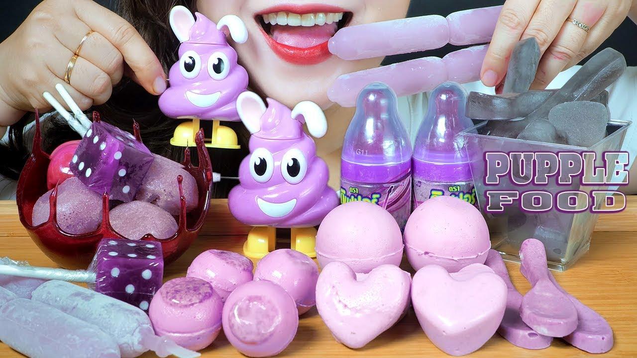 【玲玲小姐姐】助眠紫色食品(胶球、棒棒糖丁、食用勺、嚼海绵蛋糕、奶瓶糖)(2020年2月22日19时31分)