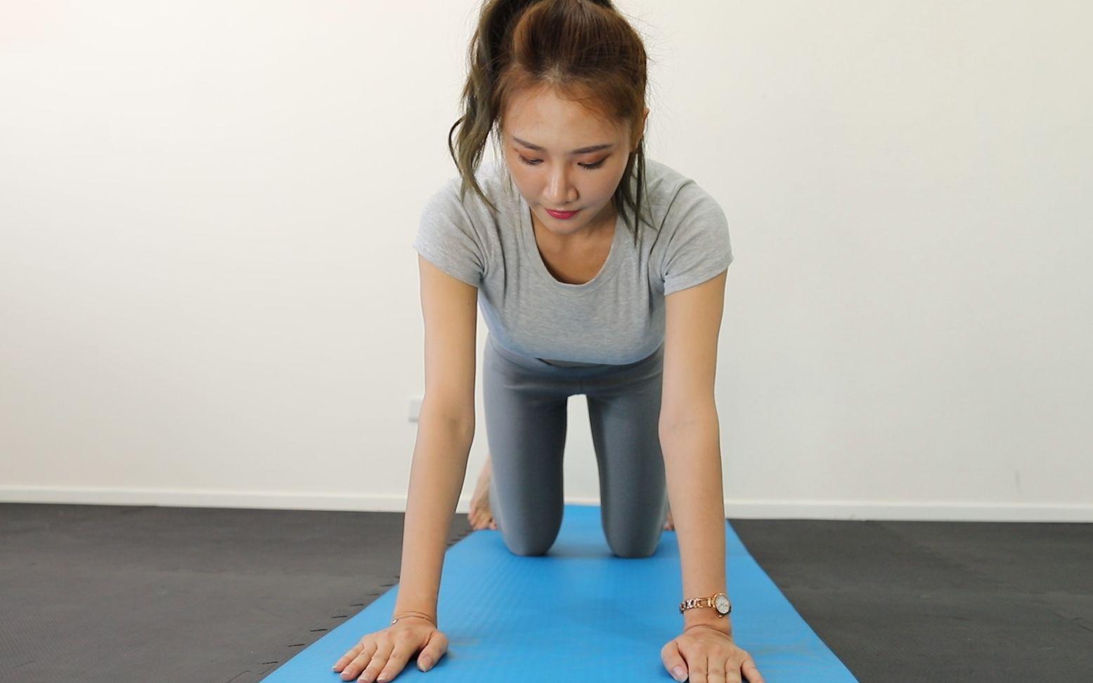 10分钟爆汗腹肌运动,一起挑战减肥吧 (鲜儿)
