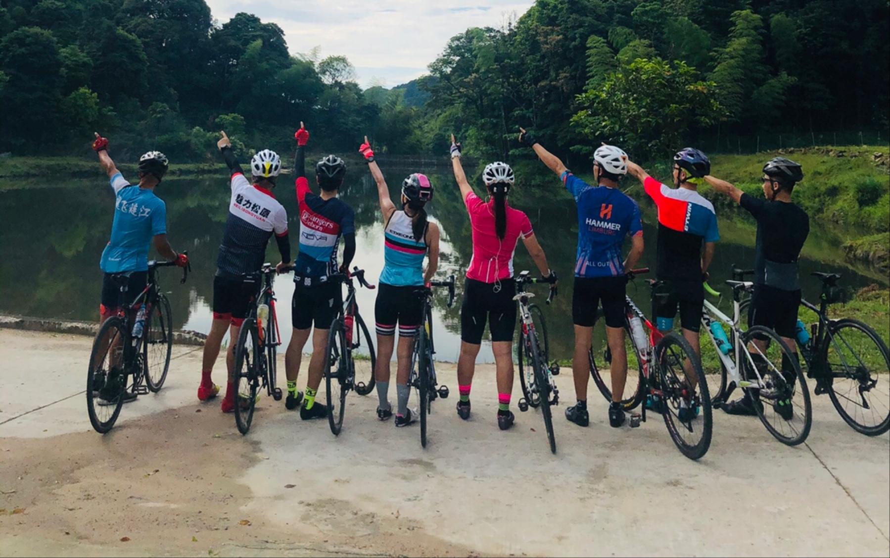 晨骑梅洋,杜绝拉爆拉残。和谐发展健康骑行运动