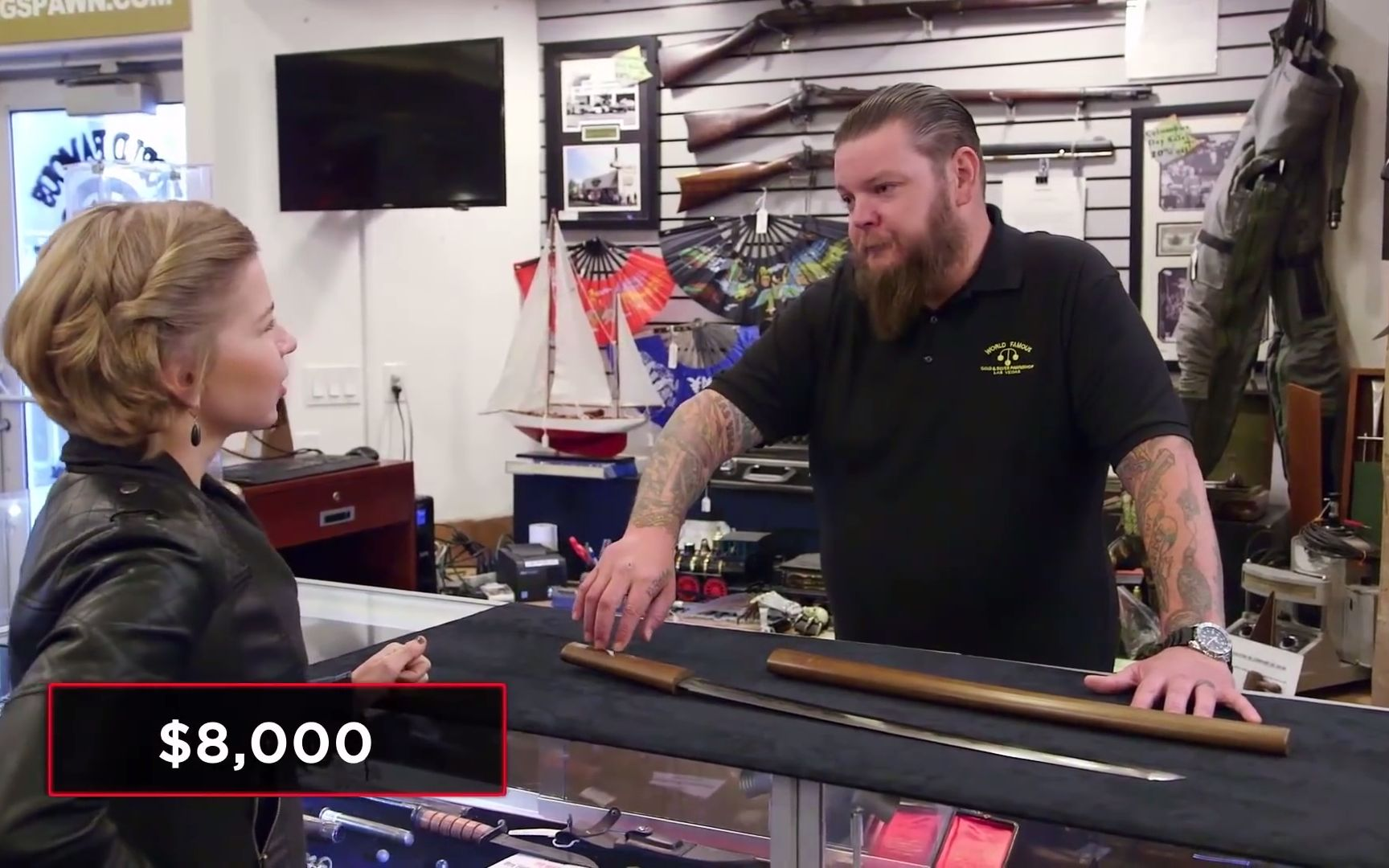 Pawn Stars_ Chum's Samurai Lesson With $10,000 Sword (Season 17) _