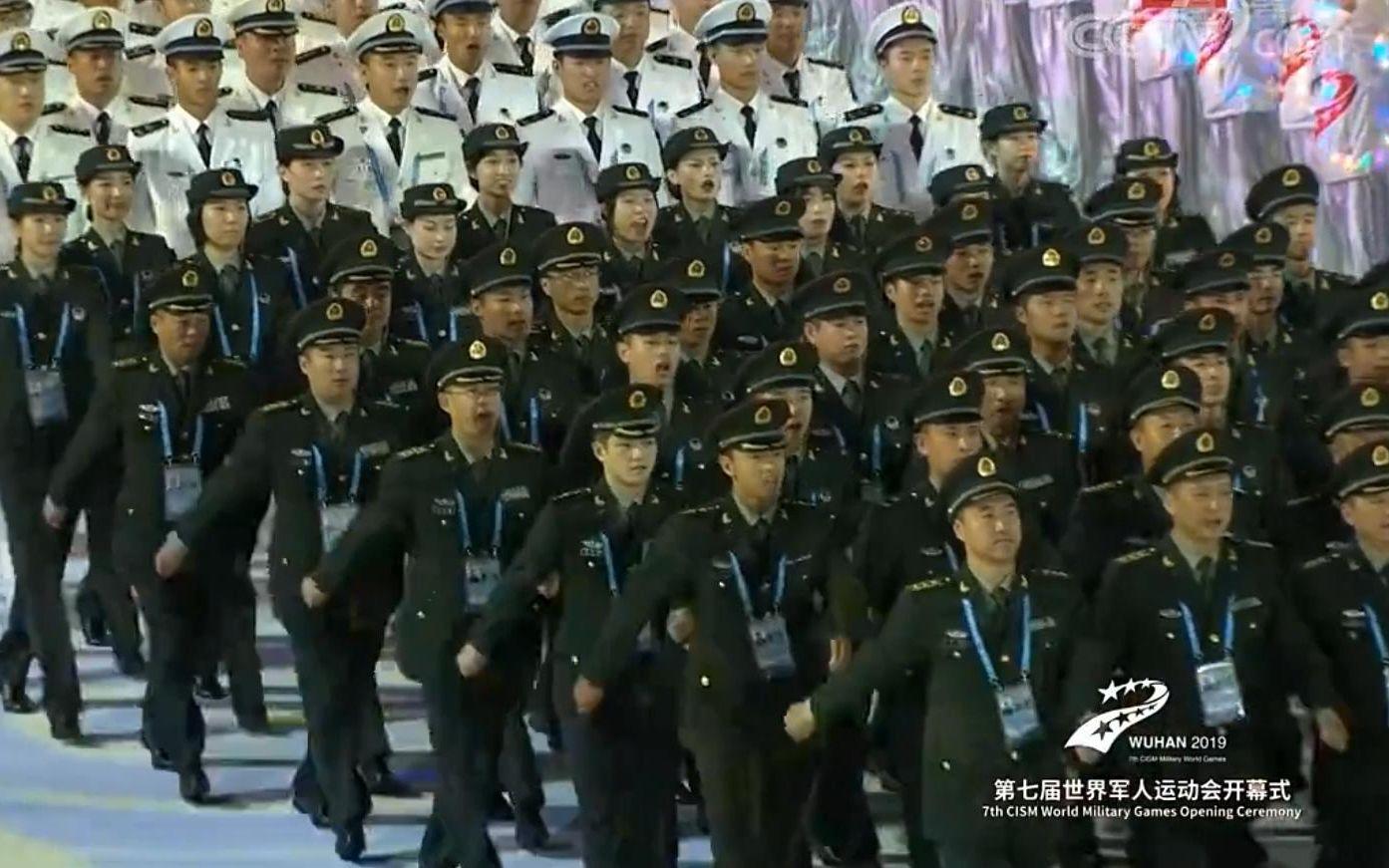 【2019军运会】【开幕式】中国队入场