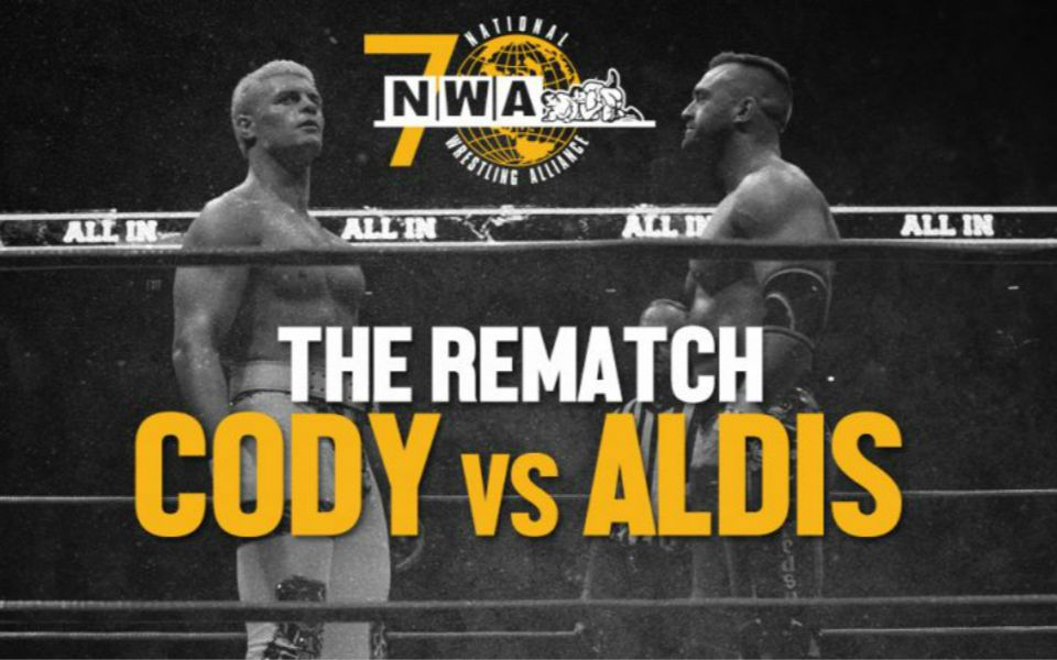 NWA 70th Anniversary  Cody vs Nick Aldis 2 Out Of 3 Falls Match