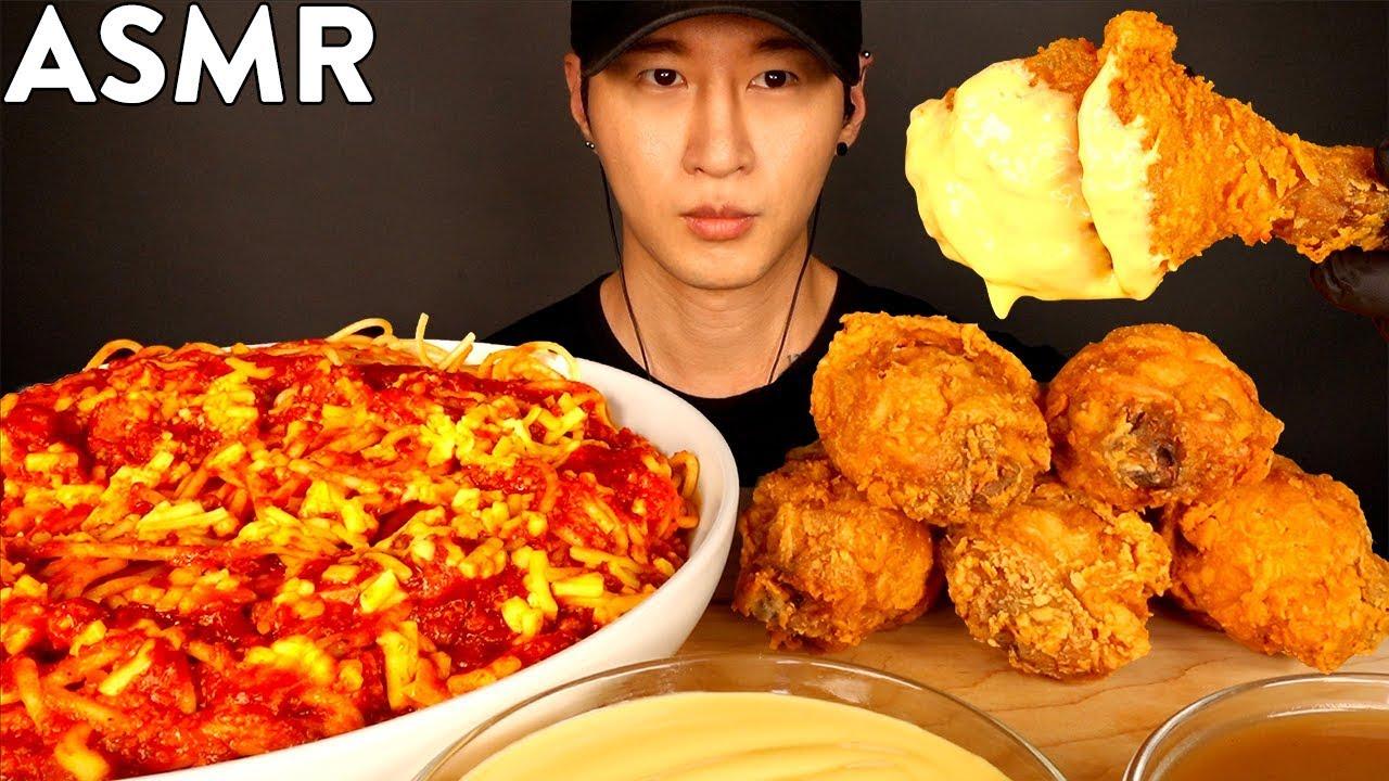 【zach choi】Jollibee Cheesy炸鸡和意大利面Mukbang(不说话)吃的声音Zach Choi(2019年9月20日11时1分)
