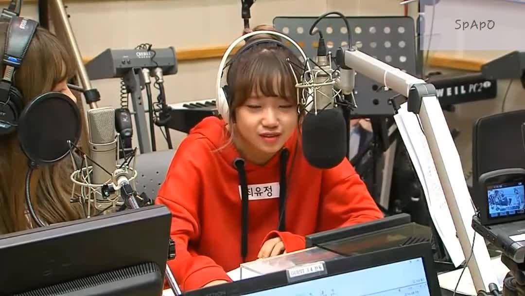 20160819 I.O.I kiss the radio谈及离别落泪cut中字