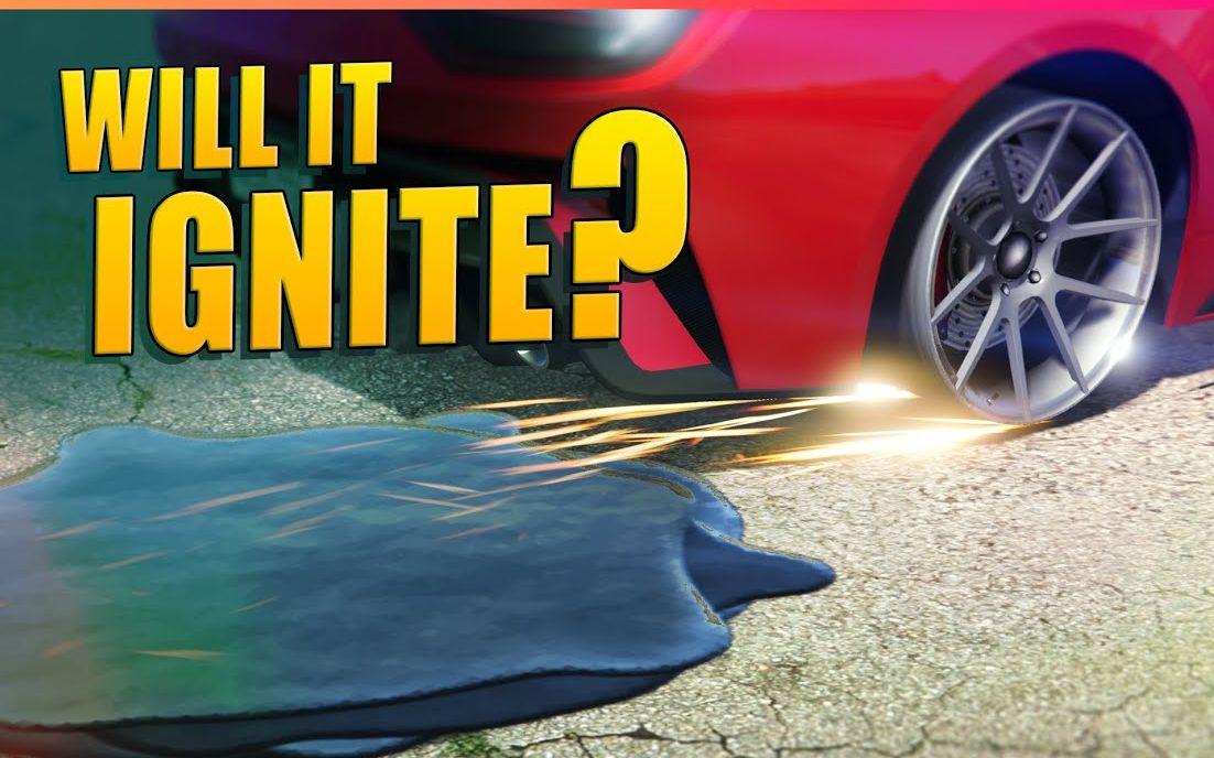 【GTA5】用车轮摩擦汽油会使汽油燃烧起来吗?