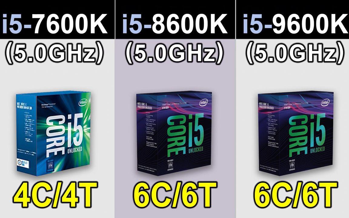 i5-7600K/8600K/9600K默频同频5 0G对比_哔哩哔哩(゜-゜)つロ干杯~-bilibili