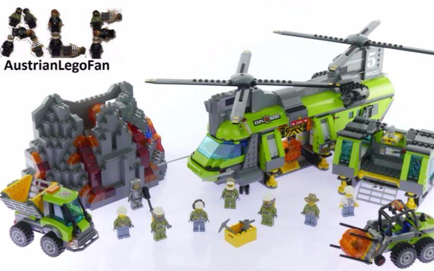 小型直升机_乐高60125城市系列火山探险系列火山重型直升机_哔哩哔哩 (゜-゜ ...