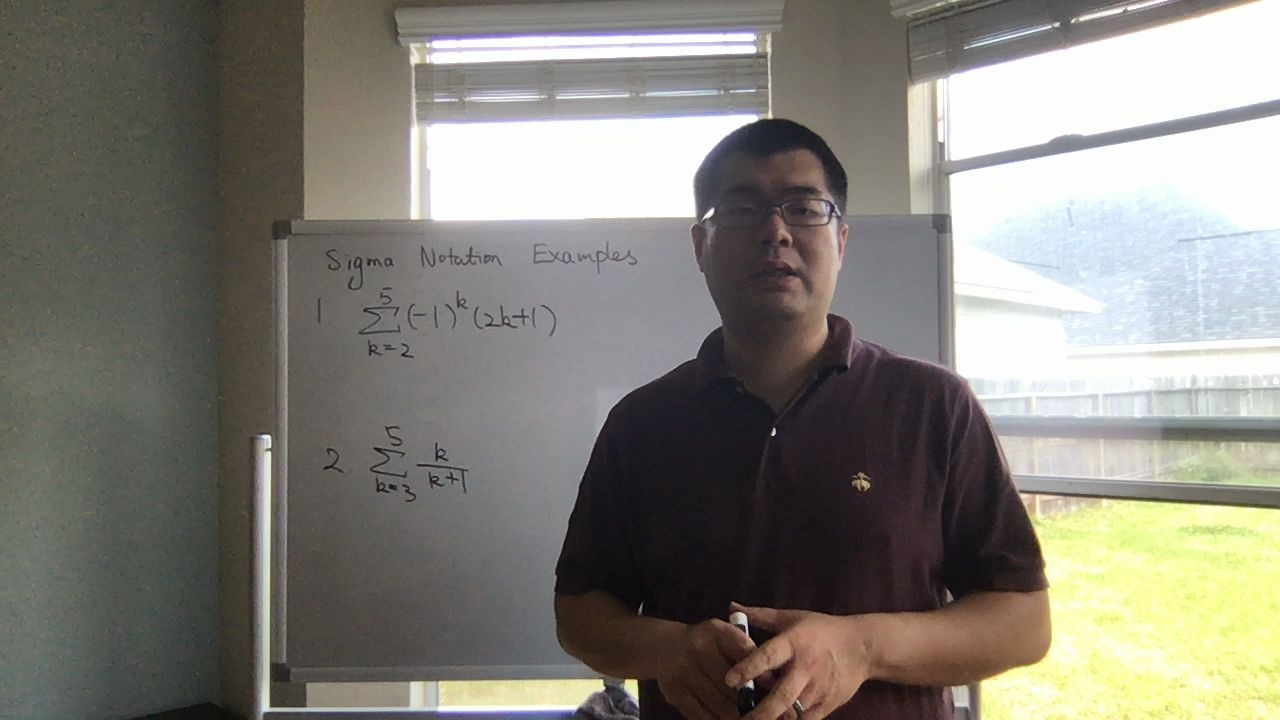 Sigma Notation Examples