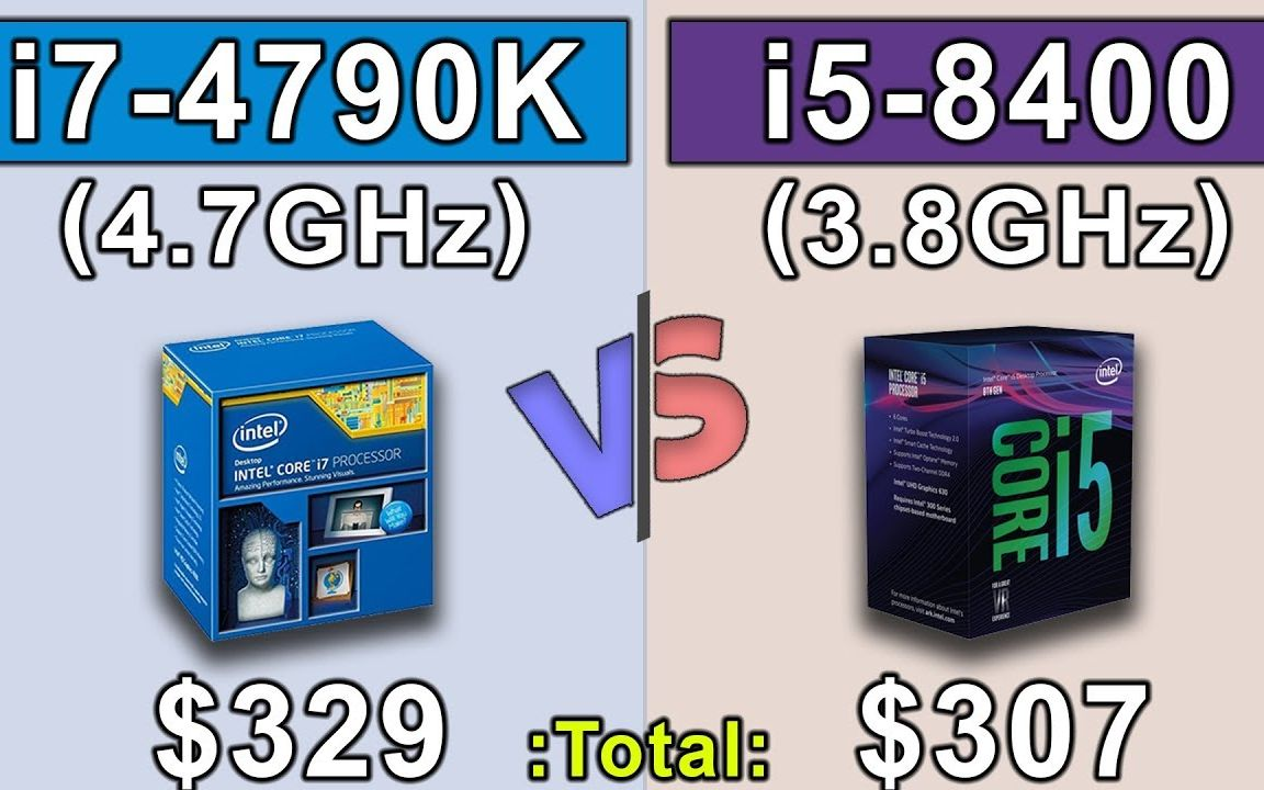 i5 8400 (3 9GHz) vs i7 4790K (4 7GHz) OC - Which is a better for  money   _哔哩哔哩 (゜-゜)つロ 干杯~-bilibili
