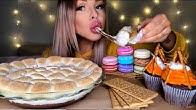 【hunnibee】S'Mores蘸酱、麦卡龙、巧克力篝火杯形蛋糕mukbangeating show(2019年9月17日14时23分)