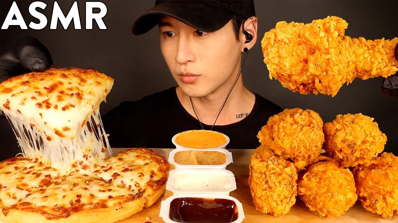 【zach choi】额外的奶酪披萨和肯德基炸鸡mukbang(不说话)吃的声音zach choi(2019年9月15日10时30分)