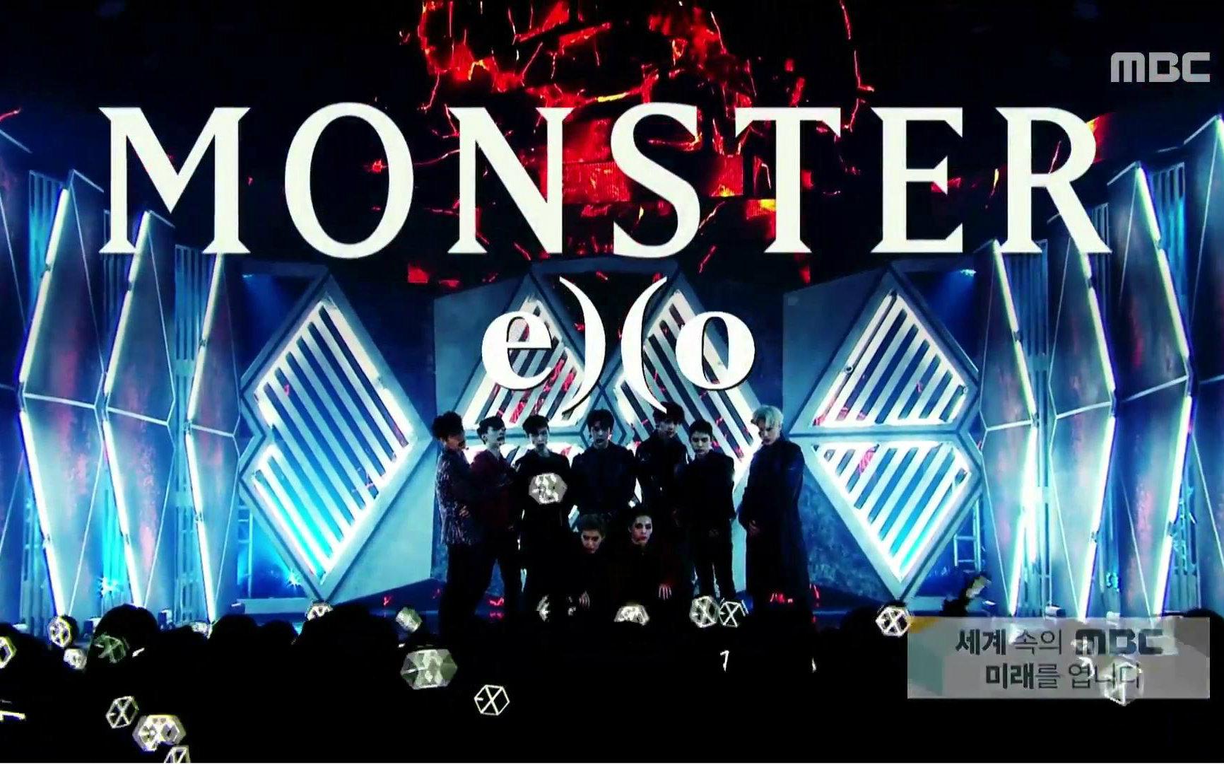 【exo】《monster》现场 mix_korea相关_娱乐__哔哩哔
