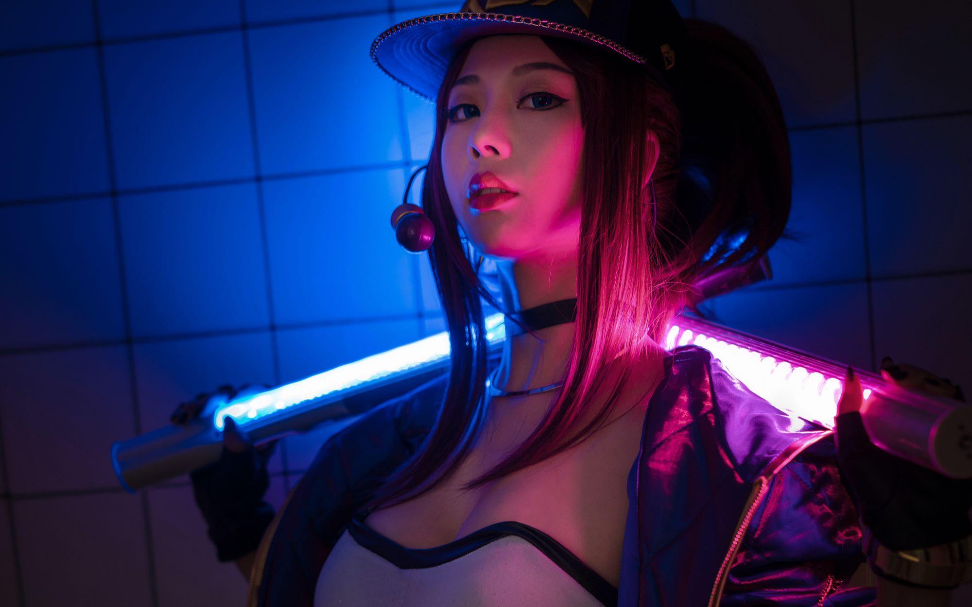 英雄联盟cosplay系列:KDA阿卡丽已上线